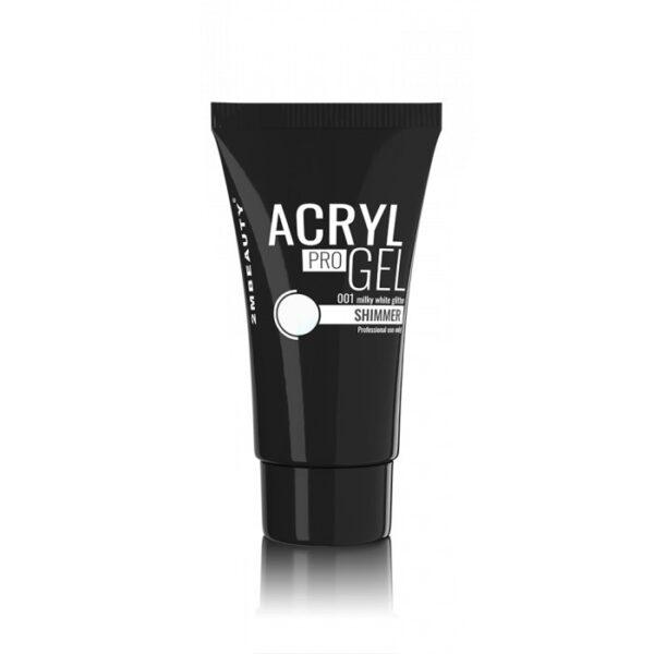 Acryl Pro Gel 2M Shimmer Milky White Nr. 01 30gr