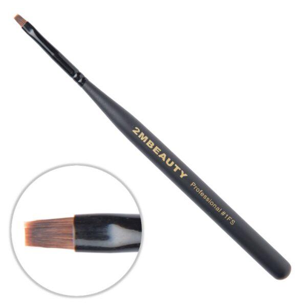 Pensula gel 2M Black Beauty nr. 1FS