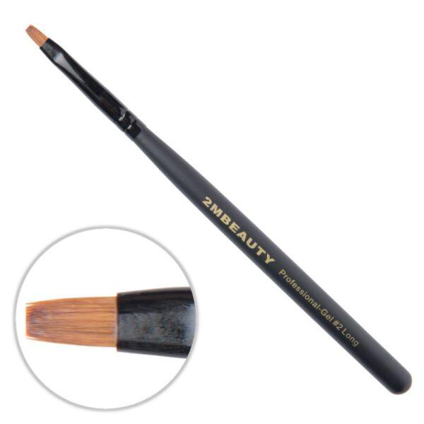 Pensula gel 2M Black Beauty Long nr. 2