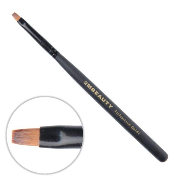 Pensula gel 2M Black Beauty nr. 4