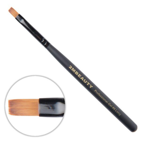 Pensula gel 2M Black Beauty Long nr. 6