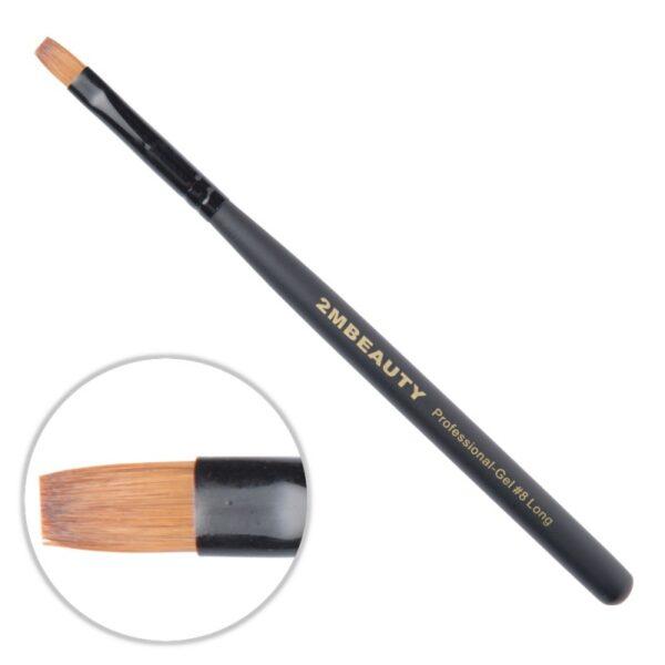 Pensula gel 2M Black Beauty Long nr. 8