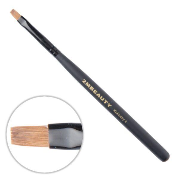 Pensula gel 2M Black Beauty Kolinsky nr. 4