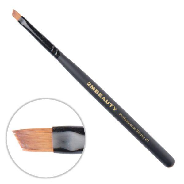 Pensula gel 2M Black Beauty OneStroke nr. 01