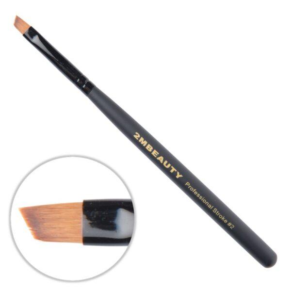 Pensula gel 2M Black Beauty OneStroke nr. 02