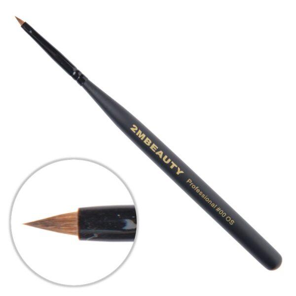 Pensula Acryl 2M Black Beauty Ascutit Nr. 00OS