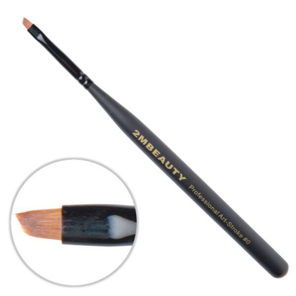 Pensula nail art 2M Black Beauty OneStroke nr. 0