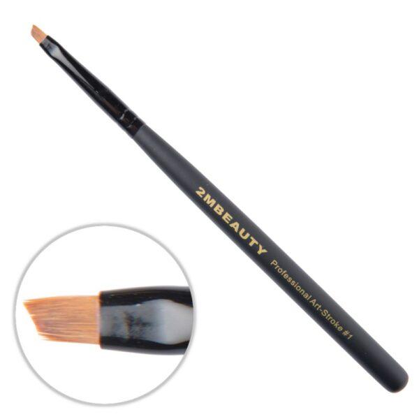 Pensula nail art 2M Black Beauty OneStroke nr. 01