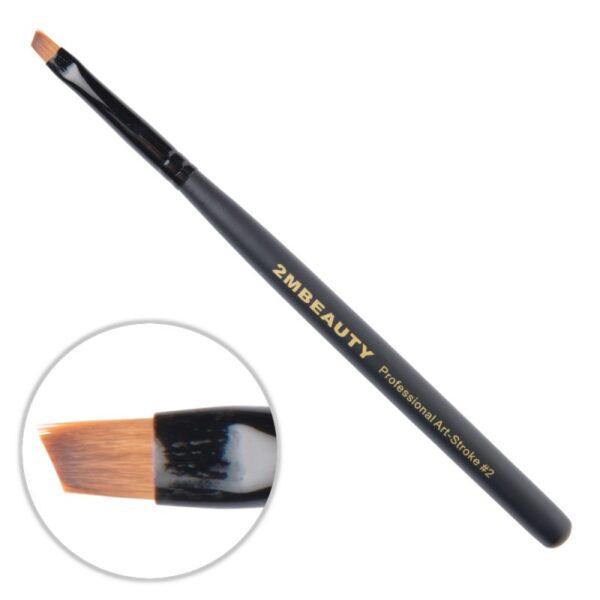 Pensula nail art 2M Black Beauty OneStroke nr. 02