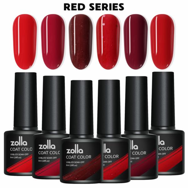 Set 6 Oje Semipermanente Zolla 8ml - Red Series
